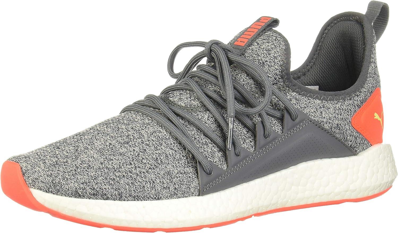 PUMA Mens Nrgy Neko Knit Running Sneakers Shoes - Grey