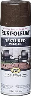 Rust-Oleum 262660 Metallic Textured Spray Paint, 12 oz, Mystic Brown