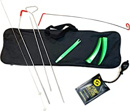 Full Professional Kit - Easy Entry Long Reach Grabber with Air Wedge, Pry Tool, Non Marring Wedges and Carrying Case for Car