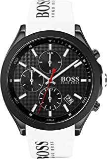 Hugo Boss Mens Quartz Watch, Chronograph Display and Silicone Strap 1513718