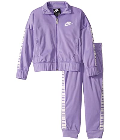 Nike Kids Tricot Full Zip Jacket and Jogger Pants Two-Piece Track Set (Little Kids) (Space Purple) Girl