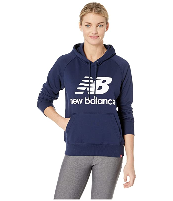 New Balance Essentials Pullover Hoodie (Pigment/White) Women
