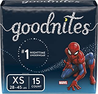 Goodnites Bedwetting Underwear for Boys, XS (28-45 lb.), 4 Packs of 15 (60 Count Total), Jumbo Pack (Packaging May Vary)