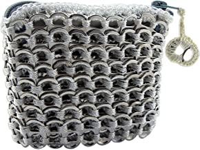 NOVICA Metallic Recycled Aluminum Coin Purse, White Style'