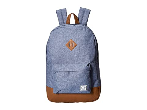 Crosshatch Heritage Chambray Co cuero sintético Herschel Tan Dark Supply c4EFpWnWX
