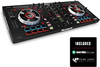 Numark Mixtrack Platinum | 4 کاناله کنترل دی جی با لایه بندی 4 طبقه و Hi-Res نمایش برای Serato DJ