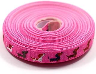 dachshund ribbon grosgrain