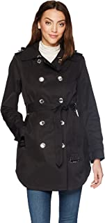 Women's Double Breasted Trench Rain Jacket