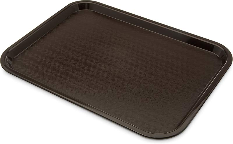 Carlisle CT121669 Caf Standard Cafeteria Fast Food Tray 12 X 16 Chocolate