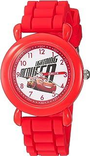 DISNEY Boys Cars 3 Analog-Quartz Watch with Silicone Strap, red, 16 (Model: WDS000302