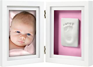 Pearhead Newborn Baby Handprint and Footprint Deluxe Photo Frame & Impression Kit P63004