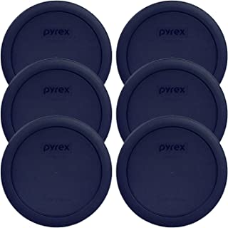 Pyrex Blue 4 Cup Round Plastic Cover - 6-Pack