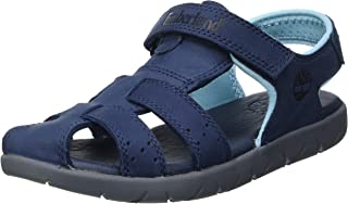 Timberland Unisex Kid's Nubble Leather Fisherman (Youth) Sandals