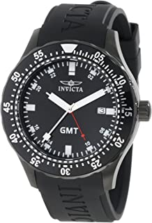 Men's 11258 Specialty GMT Black Polyurethane Watch
