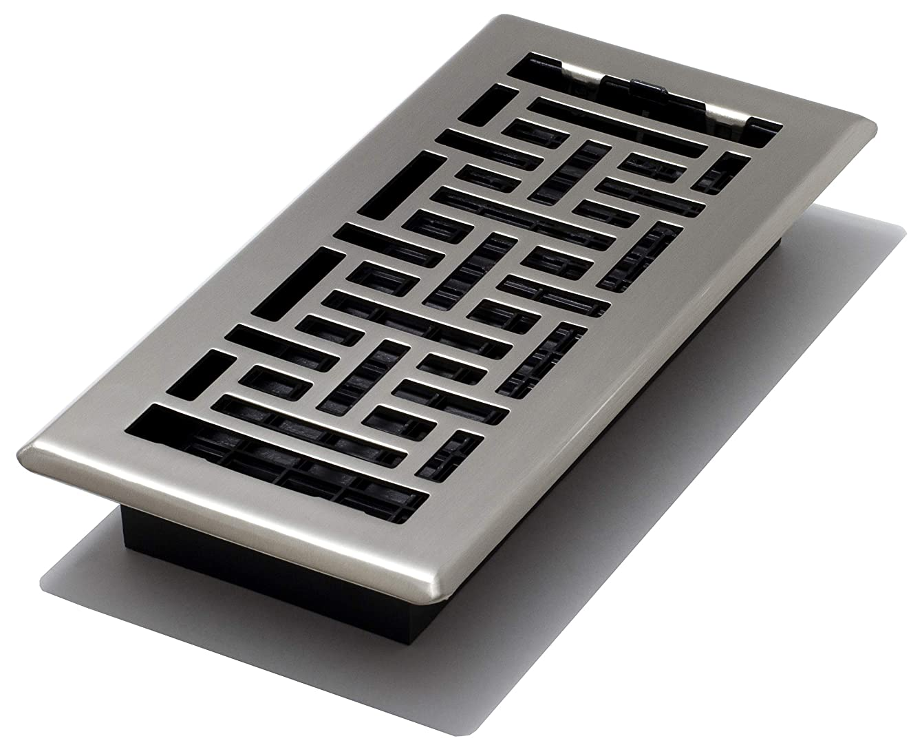 Decor Grates AJH410-NKL Oriental Floor Register, Brushed Nickel, 4-Inch by 10-Inch