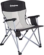 KingCamp Camping Chair Hard Arm Folding Camp Chair High Back Ergonom Outdoor Sports Chair..