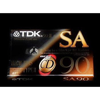 TDK SA 90 minute Super High Resolution Type II Audio Cassette Tape