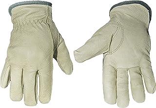 G & F 2012M-3 Cold Weather Premium Genuine Grain Pig Skin Leather Gloves with Red Fleece Lining (3 Pair), Winter Work Glov...