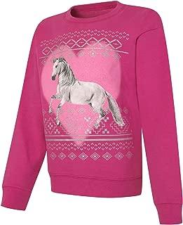 Big Girls' Ecosmart Graphic Fleece Sweatshirt