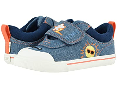 TOMS Kids Doheny (Toddler/Little Kid) (Navy Denim/Weather Embroidery) Boy