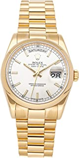 Rolex Day-Date Mechanical (Automatic) Silver Dial Mens Watch 118208 (Certified Pre-Owned)