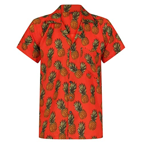 faebbfa157a468 Hawaiian Shirt Pineapple Shirt Mens Aloha Hawaii Holiday Beach Stag Juice  BBQ Beer Summer Tropical Fruit