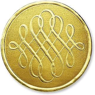 Luxury Swirls Embossed Foil Certificate Seals, 32 Count (Gold)