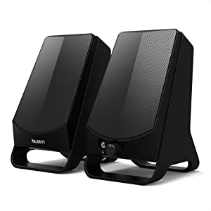 Majority DX10 PC Computer Speakers   10W Power   USB Plug and Play   Classic Black with Multi-Connection