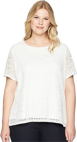 Calvin Klein Plus Plus Size Short Sleeve Lace Top