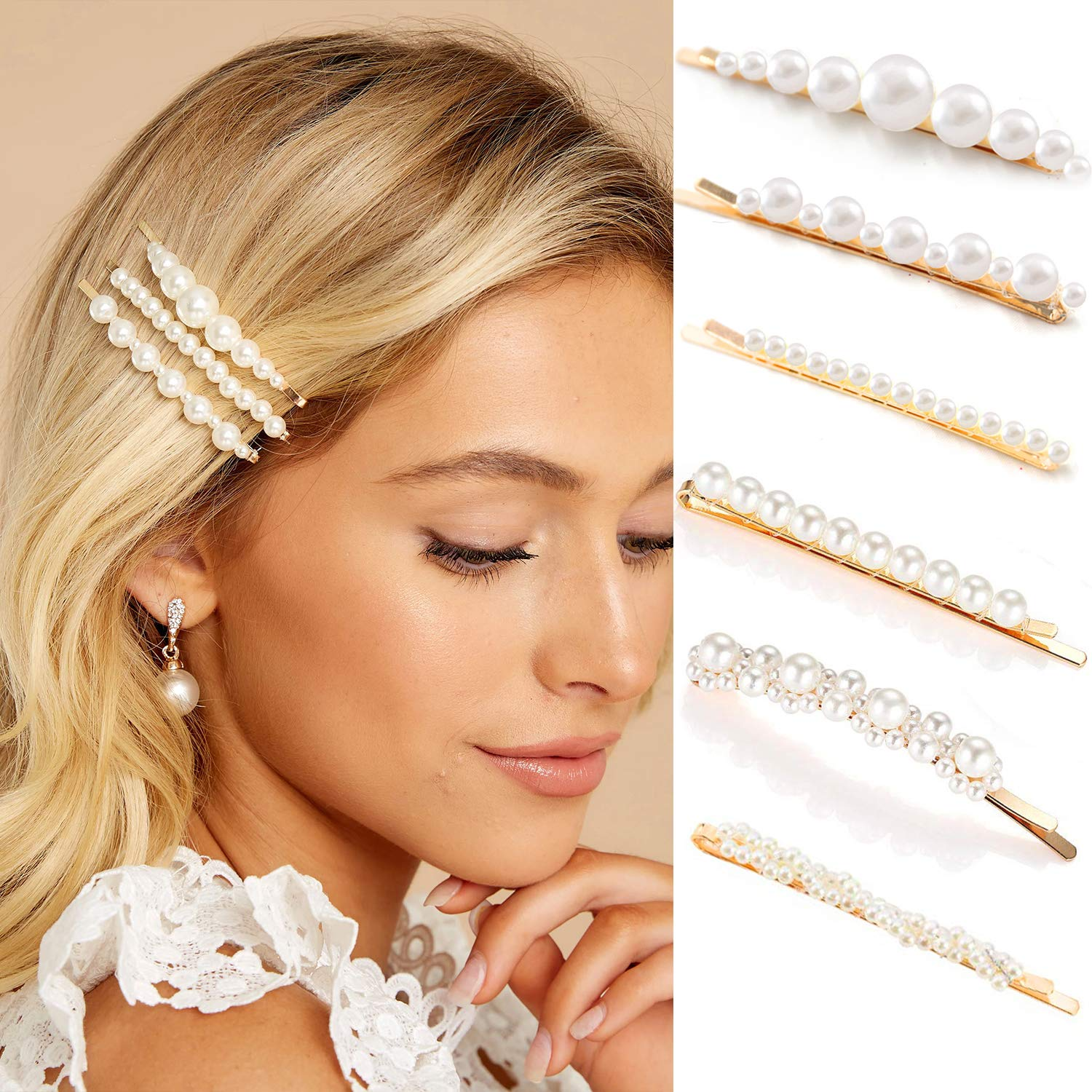 Gold Pearl Bobby Pins For Women Styling Girls Hair Valentines Cl San Antonio Virginia Beach Mall Mall