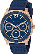 GUESS Men's Stainless Steel Android Wear Touch Screen Silicone Smart Watch