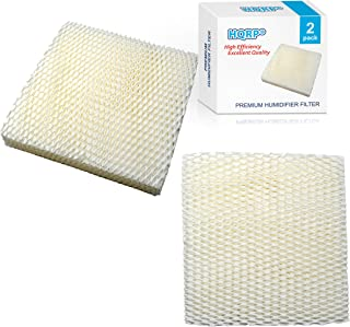 HQRP Wick Filter (2-pack) compatible with Duracraft DH803 / DH804 / DH805 / DH806 / DH807 / DH810 / DH815 / DA1007 Natural Cool Moisture Humidifier, AC-809 / D09-C/AC-815 Replacement + HQRP Coaster
