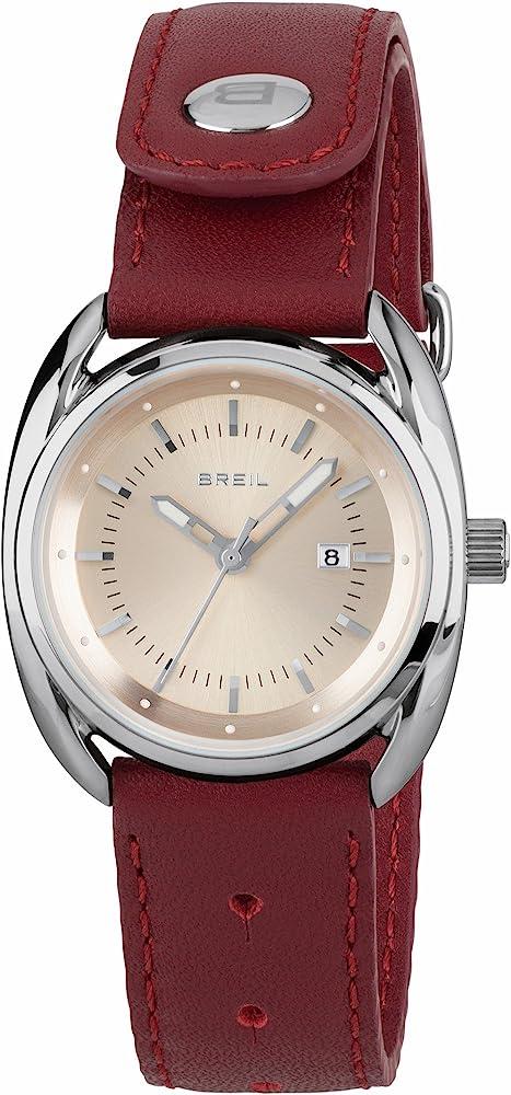 Breil orologio per donna beaubourg con cinturino in pelle di vitello TW1595