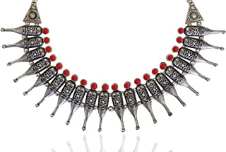 Sansar India Oxidized Choker Necklace for Girls and Women