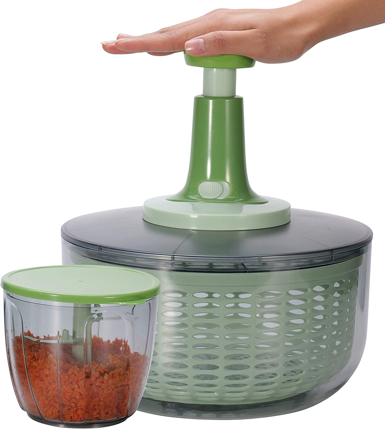 Brieftons trend rank Salad Spinner and Chopper: Greens Lettuce 6.3-Qt Large Opening large release sale