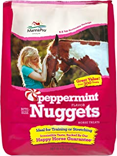 Manna Pro Peppermint Nuggets Horse Treats, 4 Pounds Each