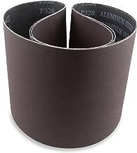 6 X 48 Inch 80 Grit Aluminum Oxide Premium Quality Multipurpose Sanding Belts, 2 Pack