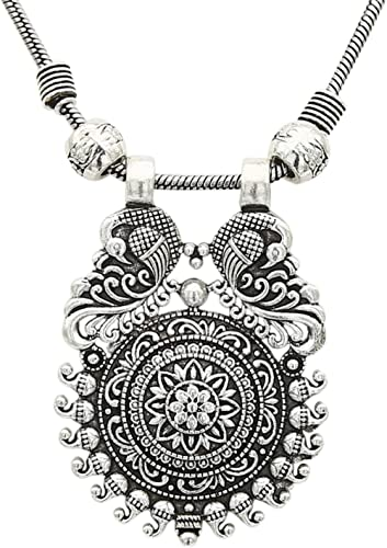 Sasitrends Traditional Oxidized German Silver Necklace for Women and Girls