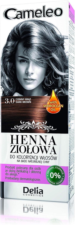 Cameleo Herbal Henna De Colores Crema y negro 75 G Extracto Henna Natural con aceite marroquí