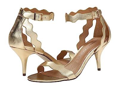 Chinese Laundry Rubie Scalloped Sandal (Gold Metallic) High Heels