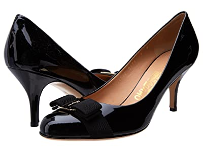 Salvatore Ferragamo Mid-Heel Pump (Nero) High Heels
