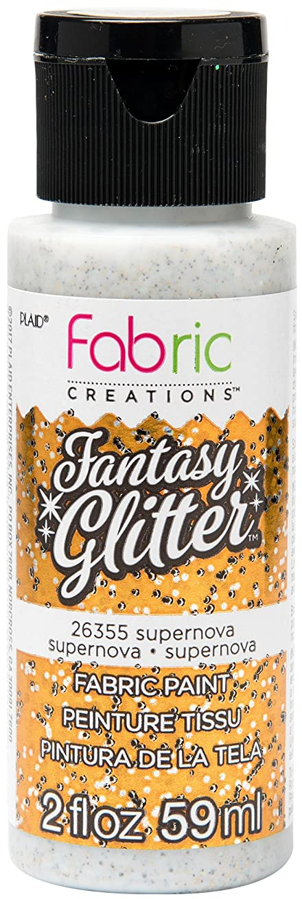 Fabric Creations 26355 Fantasy Glitter Fabric Ink Paint, 2 oz, Supernova