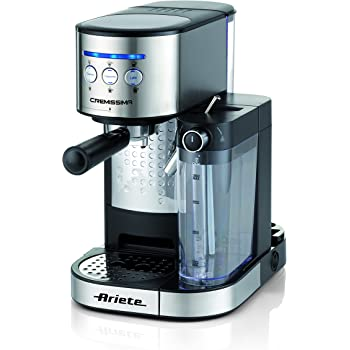 Ariete 1384 Cafetera espresso Cremissima, 1 litro, acero ...