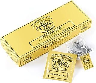 TWG Singapore – The Finest Teas of The World – French Earl Grey – 15 Teebeutel aus reiner Baumwolle handgenäht