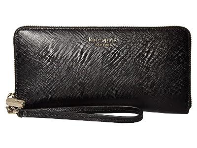 Kate Spade New York Spencer Travel Wallet (Black) Handbags