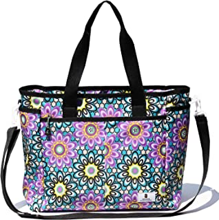 Women Weekender Overnight Travel Shoulder Bag Overnight Carry-on Duffel Gym Tote Luggage (Sun Flower)