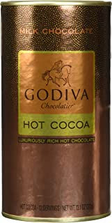 Godiva Milk Chocolate Hot Cocoa Canister 13.1oz (2 canister)