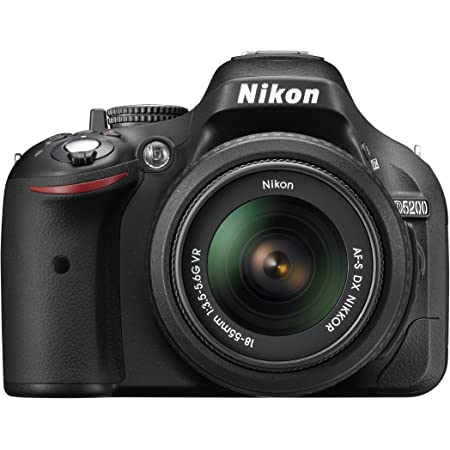 Nikon D5200 24 1 Mp Cmos Digital Slr With 18 55mm F 3 5 5 6 Af S Dx Vr Nikkor Zoom Lens Black Discontinued By Manufacturer Digital Camera Camera Photo