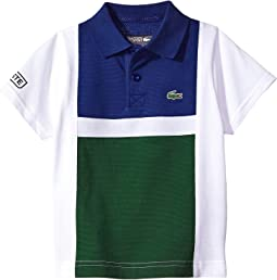 Lacoste Kids - Short Sleeve Cotton Color Block Polo (Little Kids/Big Kids)