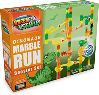 Marble Genius Dinosaur Booster Set (Add-On Set - 30 Marbulous Marble Run Toy Pieces)